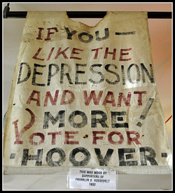 how hoover and roosevelt handled the great american depression Also, hoover's take on the issues at hand were passive, and as a result, many people blamed hoover for the increasing depression his ideas of voluntary assistance proved to be his downfall in the election of 1932.